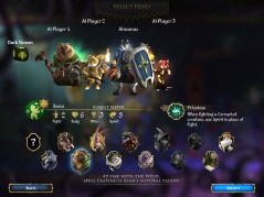 The character selection screen.