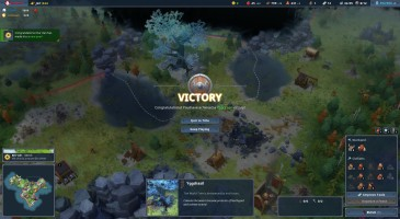 Victory, achieved by colonizing the heart of the land. (Northgard, Shiro Games)