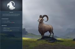 The goat clan, Heidrun. (Northgard, Shiro Games)