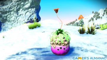 A plant-like creature on a wintry planet