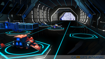 Inside a space station