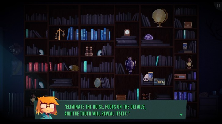 Jenny uses her keen senses to pick out the relevant details. Jenny LeClue - Detectivu, developed by Mografi.