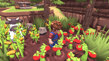 Tomatoes, hard earned and fresh off the vine. Farm-Folks, developed by Bisonbit