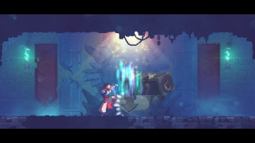 Careful, some treasure chests do you more harm than good... Dead Cells, developed by Motion Twin.