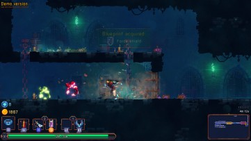 Bursting through doors stuns enemies. Dead Cells, Developed by Motion Twin.