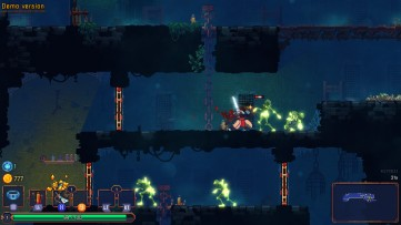 Watch out for zombies! Dead Cells, Developed by Motion Twin.