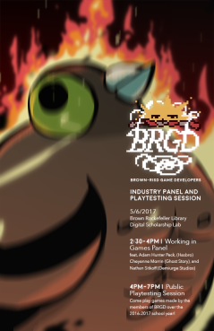 Art from Don't Feed the Pigon on the BRGD event poster.